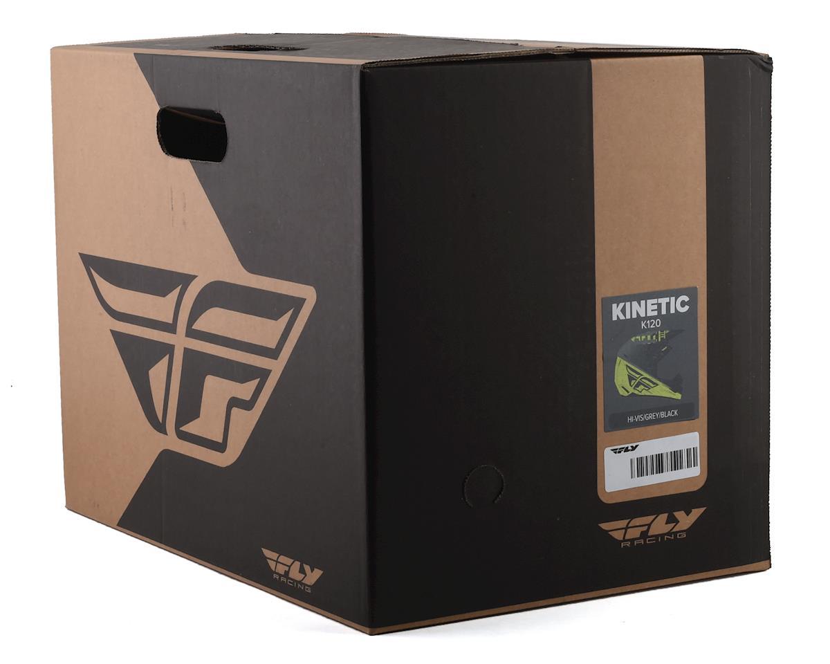 Image 4 for Fly Racing Kinetic K120 Helmet (Hi-Vis/Grey/Black) (L)