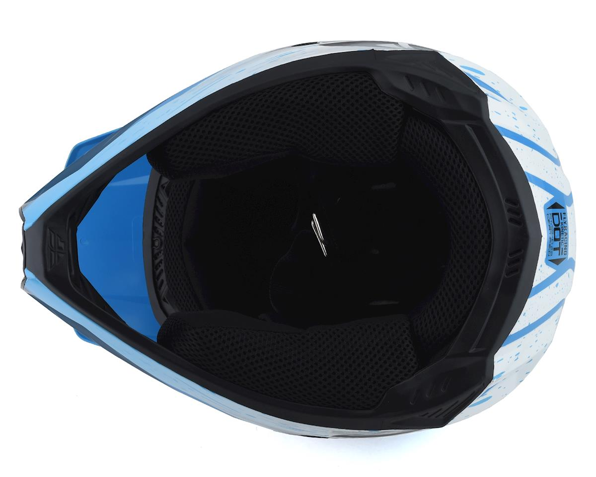 Image 3 for Fly Racing Kinetic K120 Youth Helmet (Blue/White/Red) (Kids M)