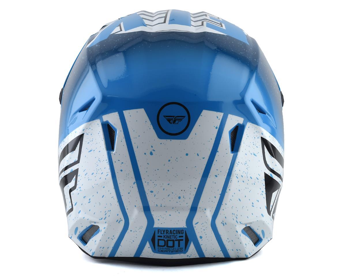 Fly Racing Kinetic K120 Youth Helmet (Blue/White/Red) (Kids S)