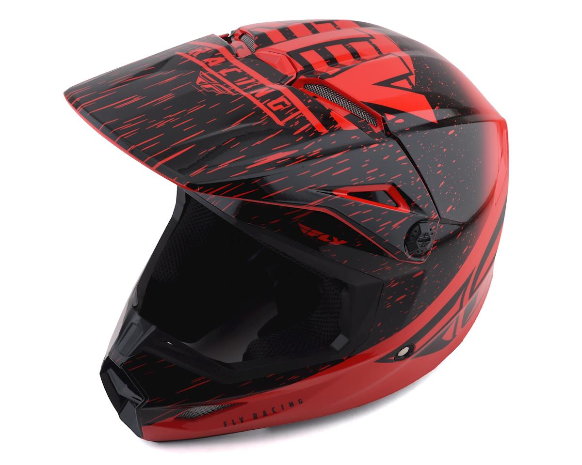 Fly Racing Kinetic K120 Youth Helmet (Red/Black) (Kids L)