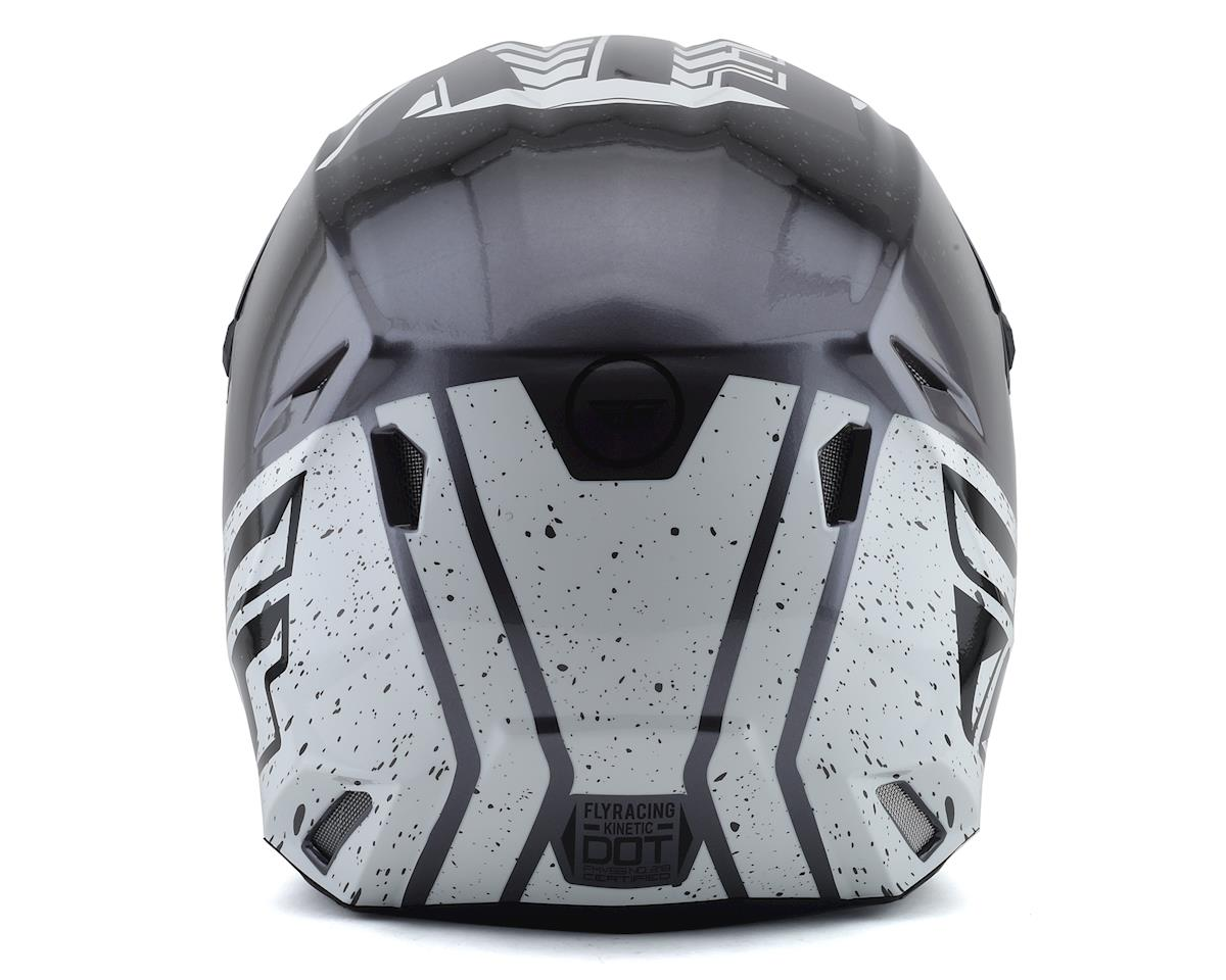 Fly Racing Kinetic K120 Helmet (Black/White/Hi-Vis) (2XL)