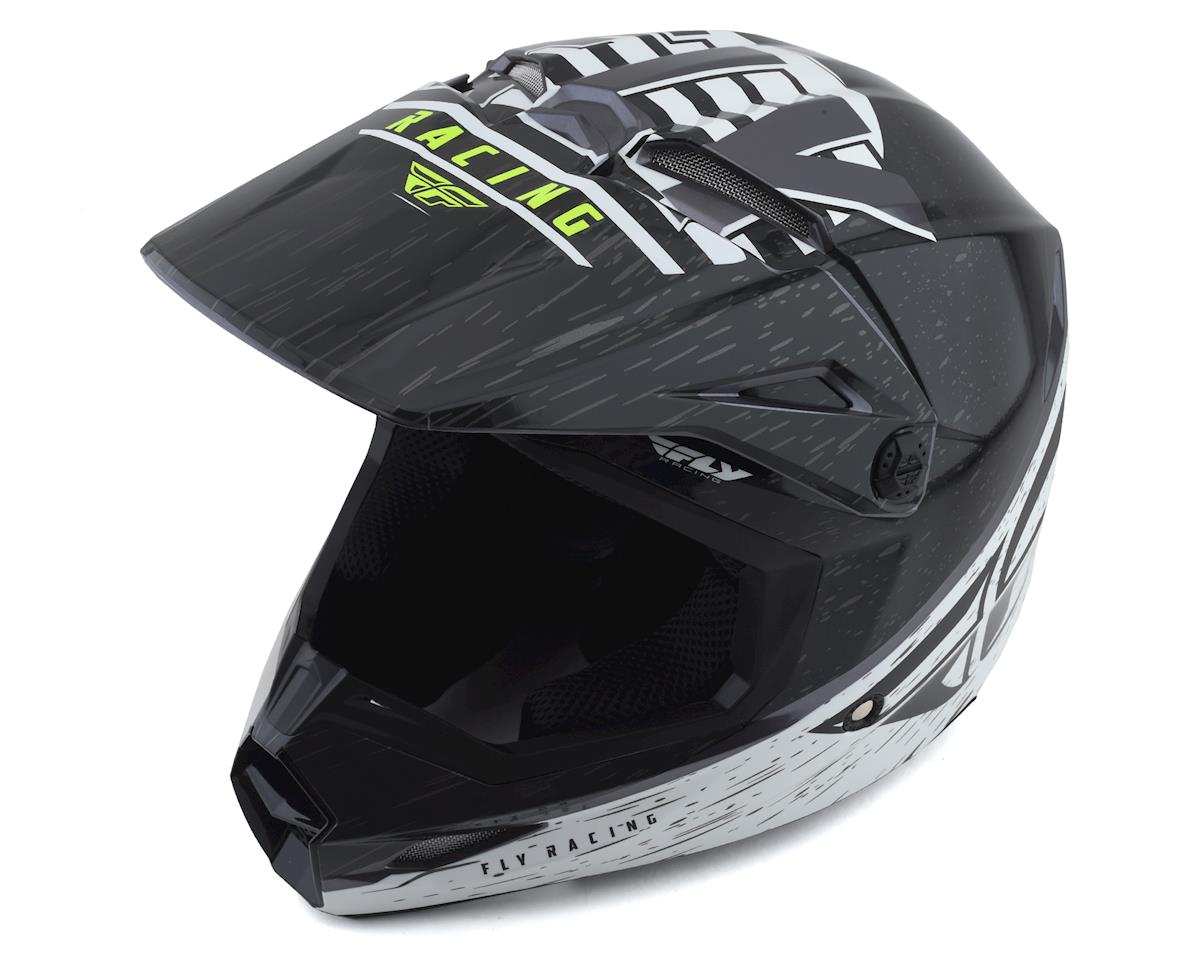 Fly Racing Kinetic K120 Helmet (Black/White/Hi-Vis) (XL)