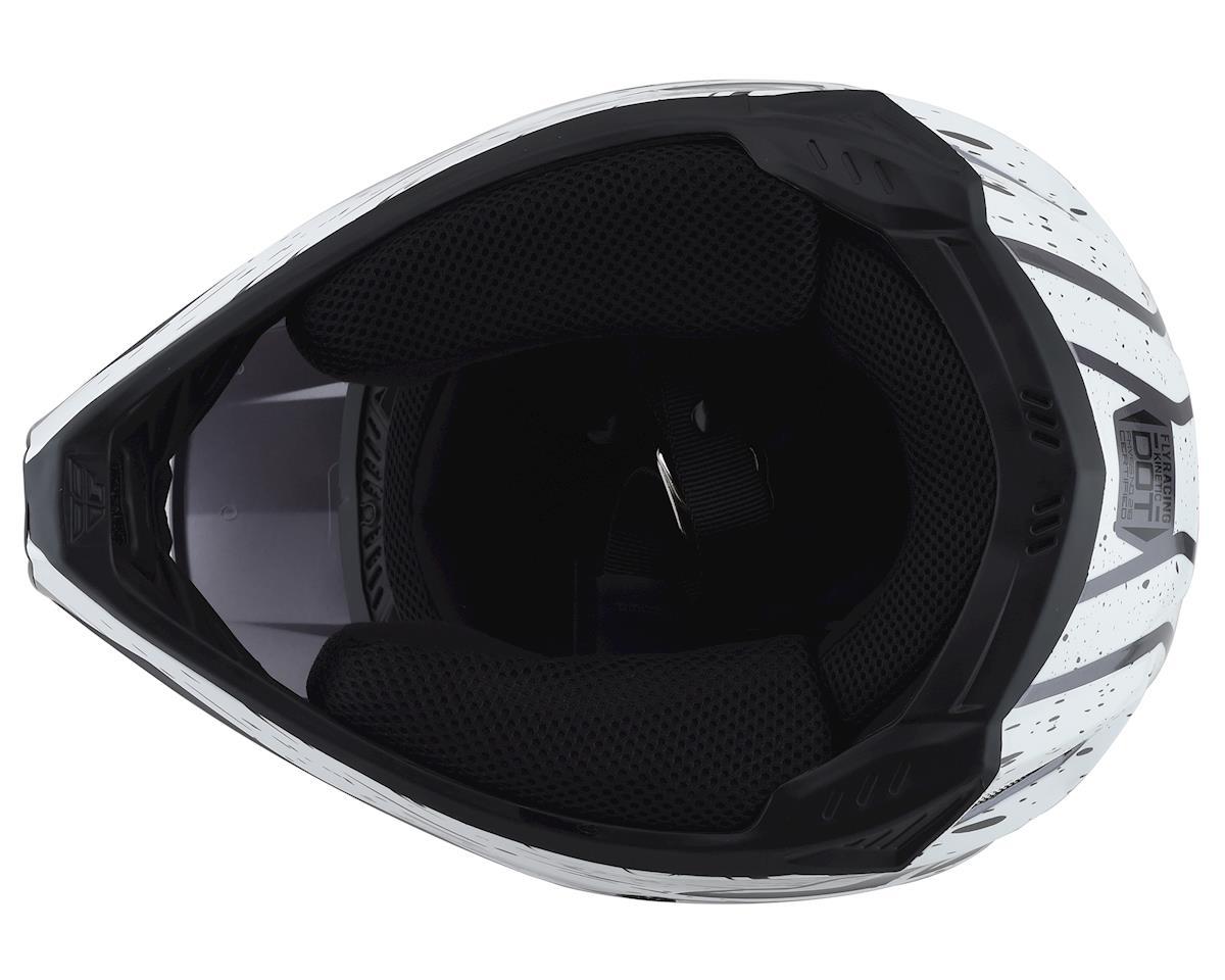 Fly Racing Kinetic K120 Helmet (Black/White/Hi-Vis) (XS)