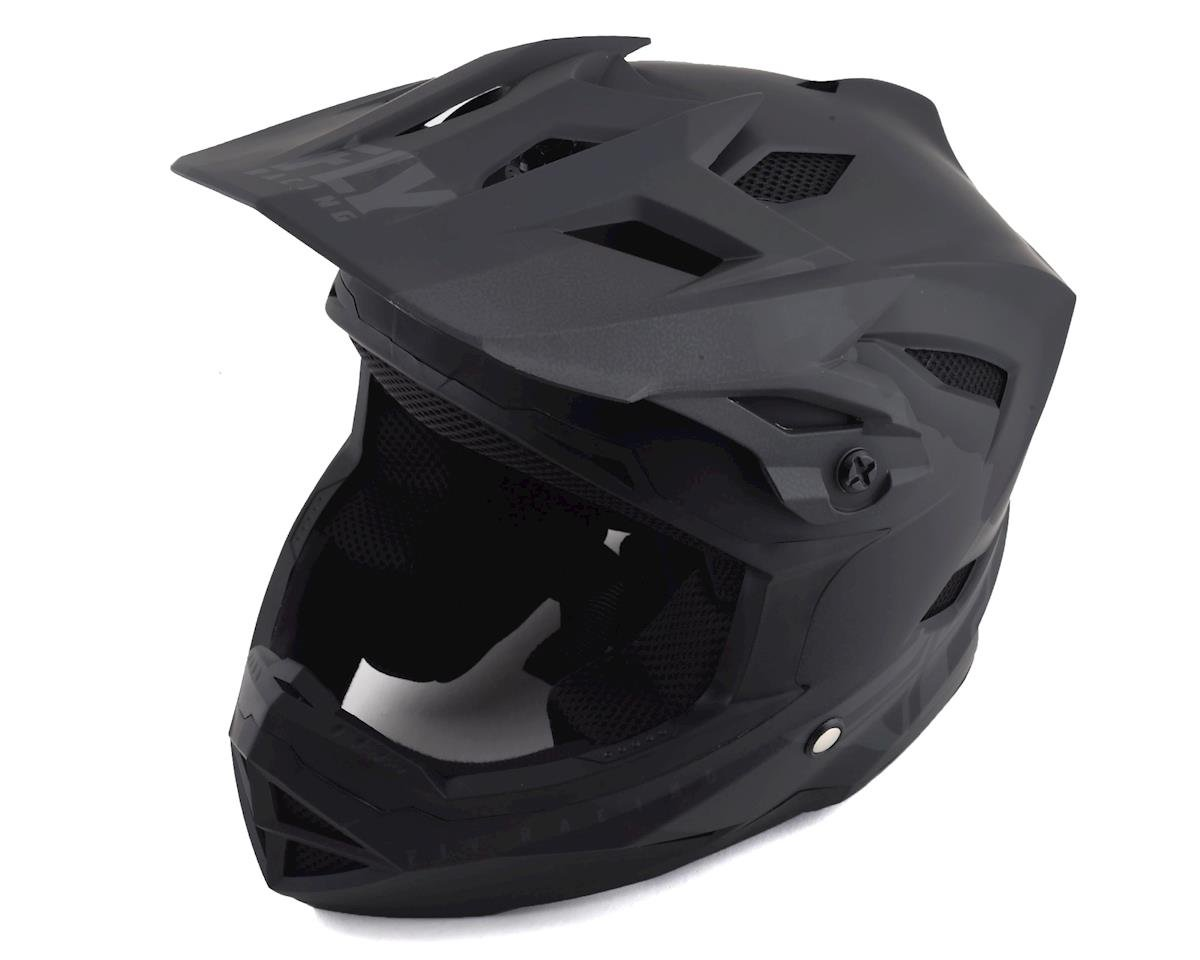 Fly Racing Default Full Face Mountain Bike Helmet (Matte Black/Grey) (S)