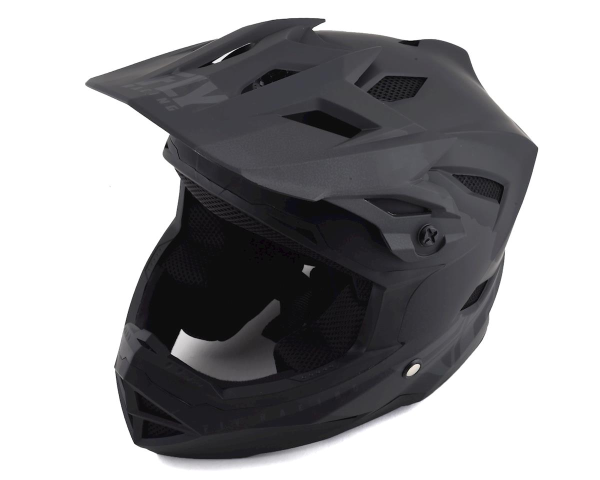 Fly Racing Default Full Face Mountain Bike Helmet (Matte Black/Grey) (Kids L)