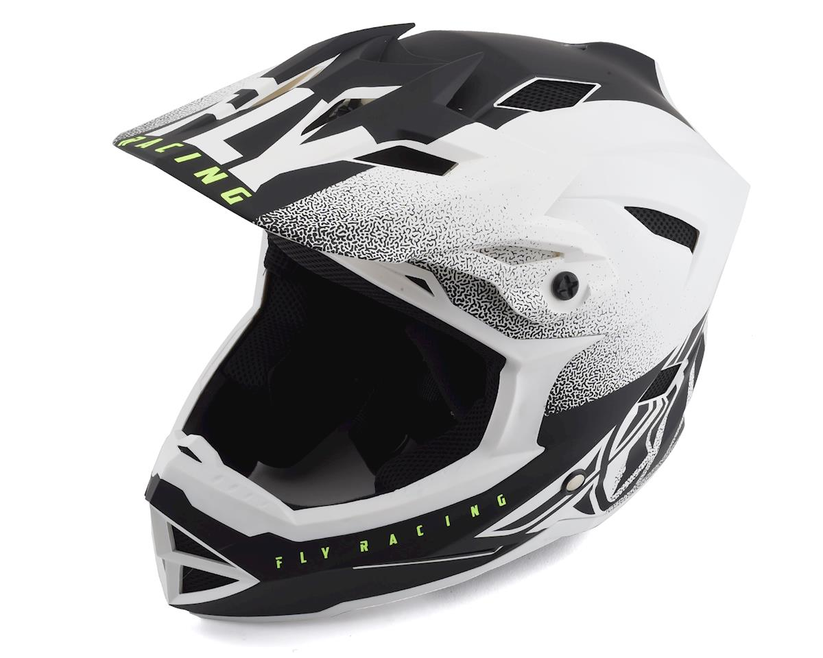 Fly Racing Default Full Face Mountain Bike Helmet (Matte White/Black) (Kids L)