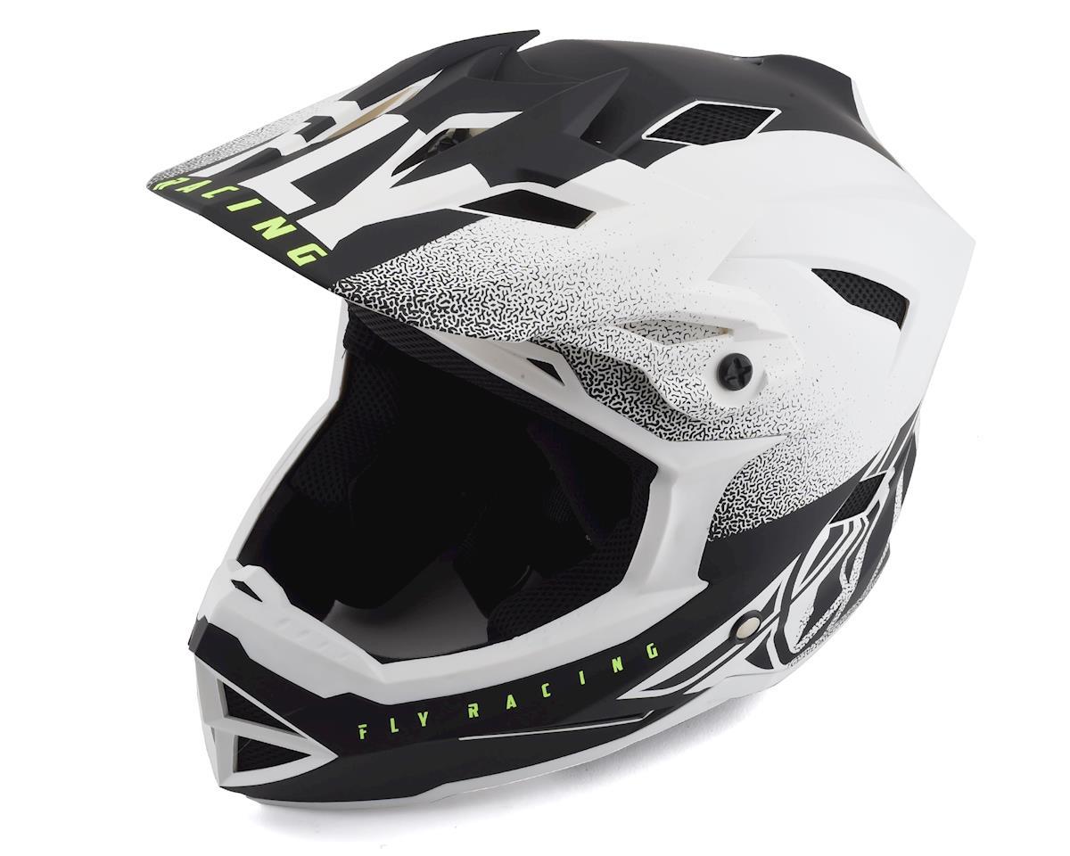 Fly Racing Default Full Face Mountain Bike Helmet (Matte White/Black) (Kids M)