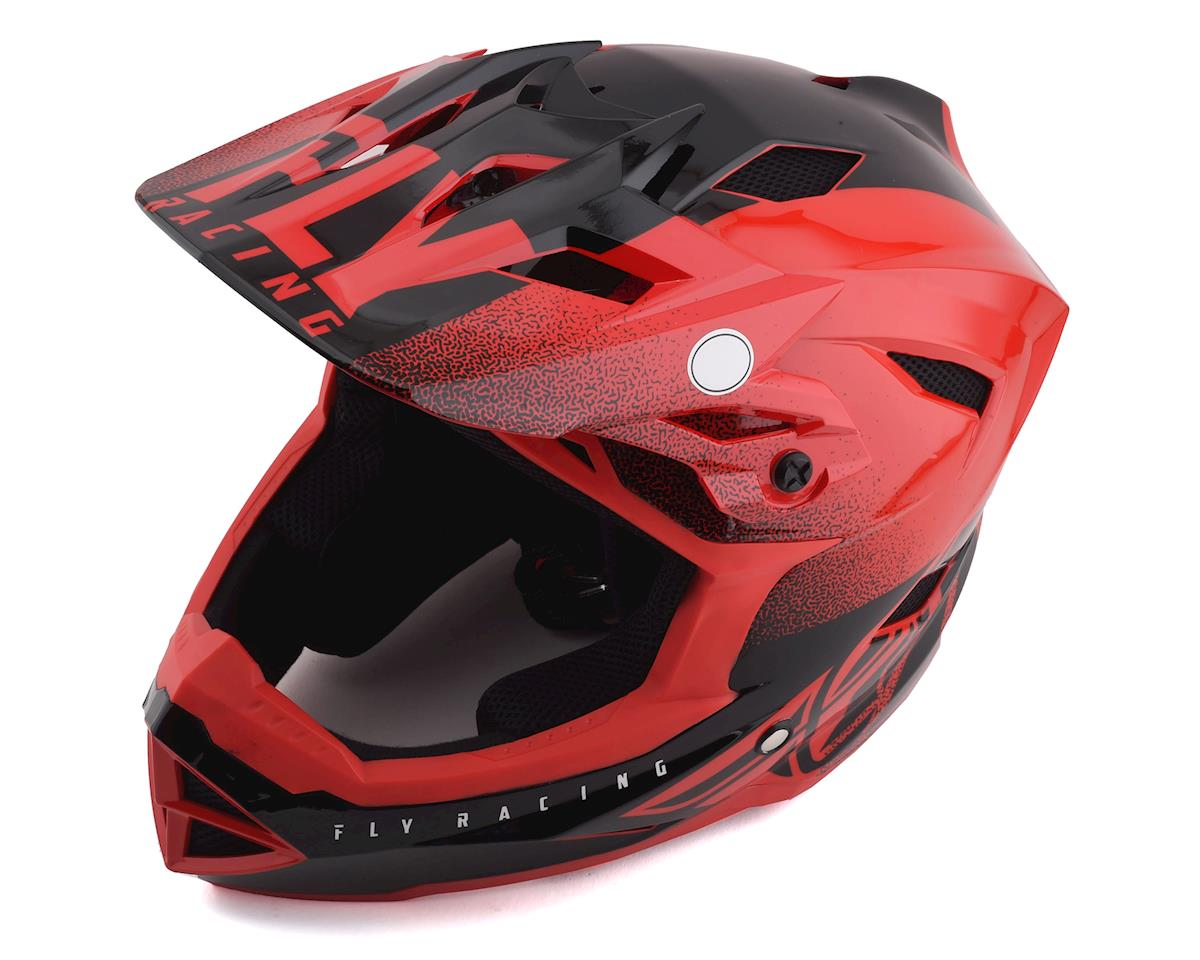 Fly Racing Default Full Face Mountain Bike Helmet (Red/Black) (Kids M)