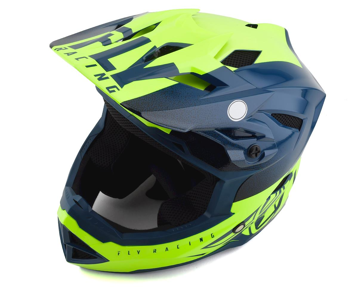 Fly Racing Default Full Face Mountain Bike Helmet (Teal/Hi-Vis Yellow) (Kids S)