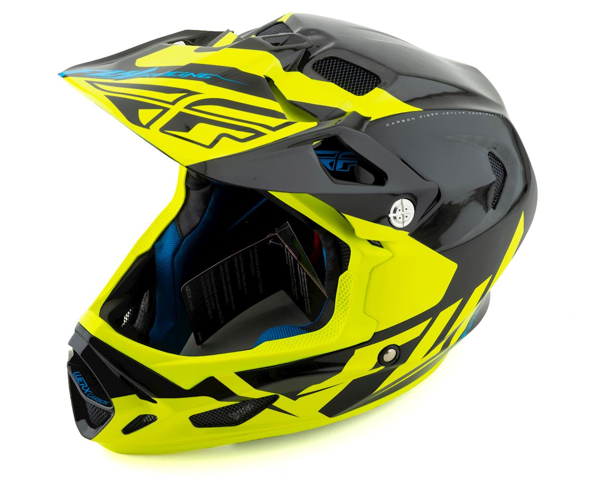Fly Racing Werx Carbon Full-Face Helmet (Ultra) (Black/Hi-Vis Yellow) (S)