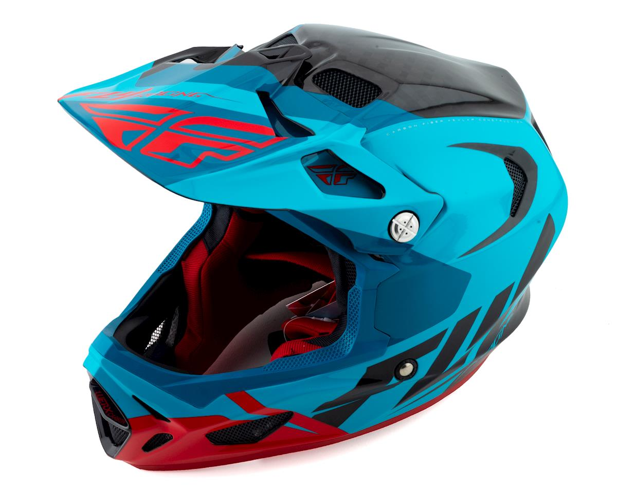Fly Racing Werx Carbon Full-Face Helmet (Ultra) (Blue/Red/Black) (M)