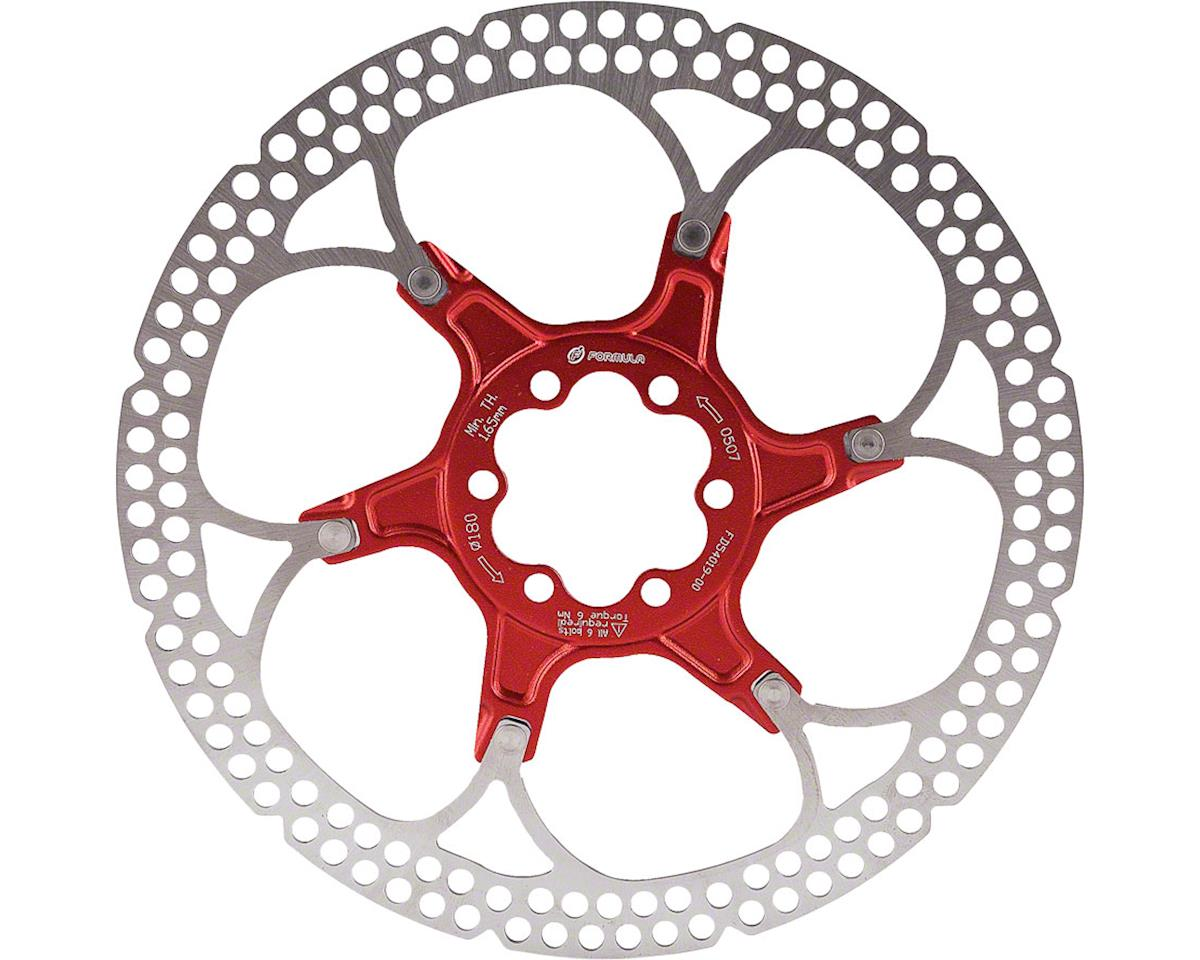 Disc Rotor Alloy 160Mm 6 Bolt Red