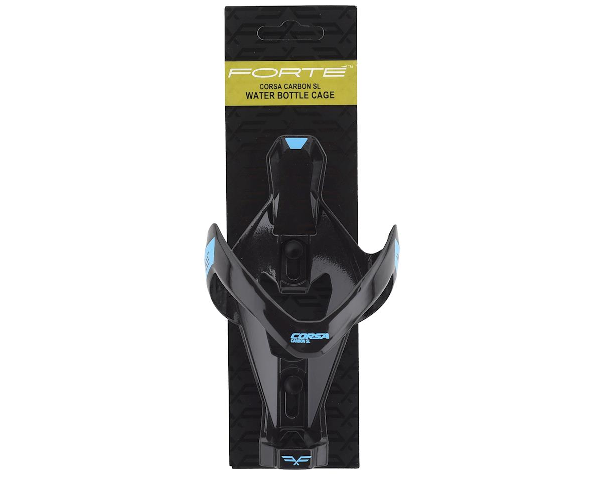 Forte Corsa Carbon SL Water Bottle Cage (Black/Gloss Blue)