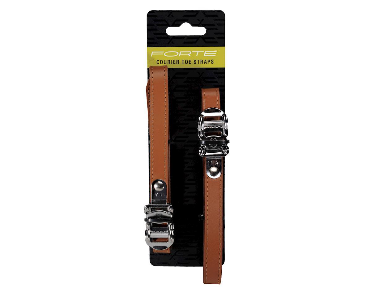 Forte Courier Toe Clip Straps (Silver)
