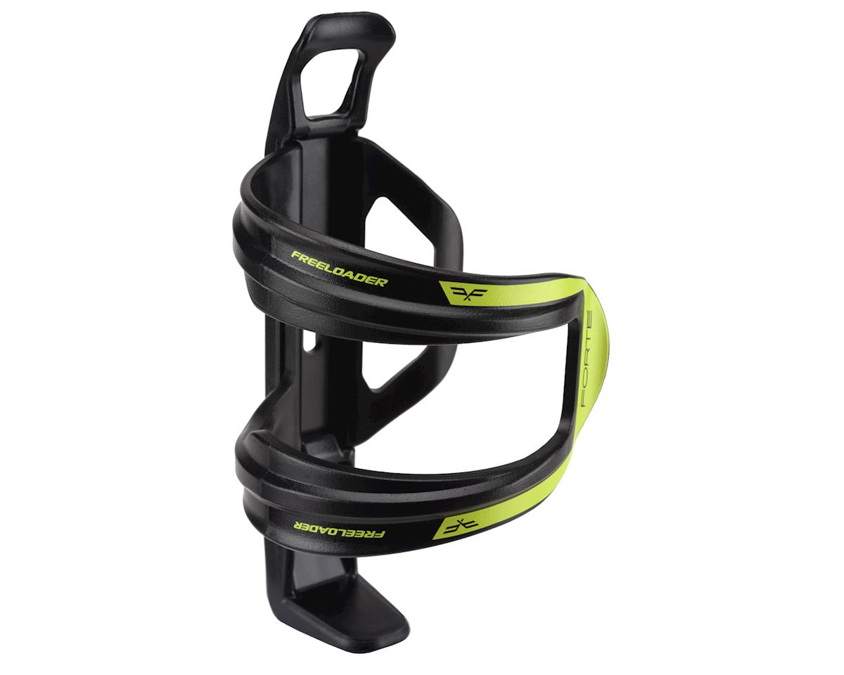 Forte Freeloader Side-Loading Water Bottle Cage (Black/Green)