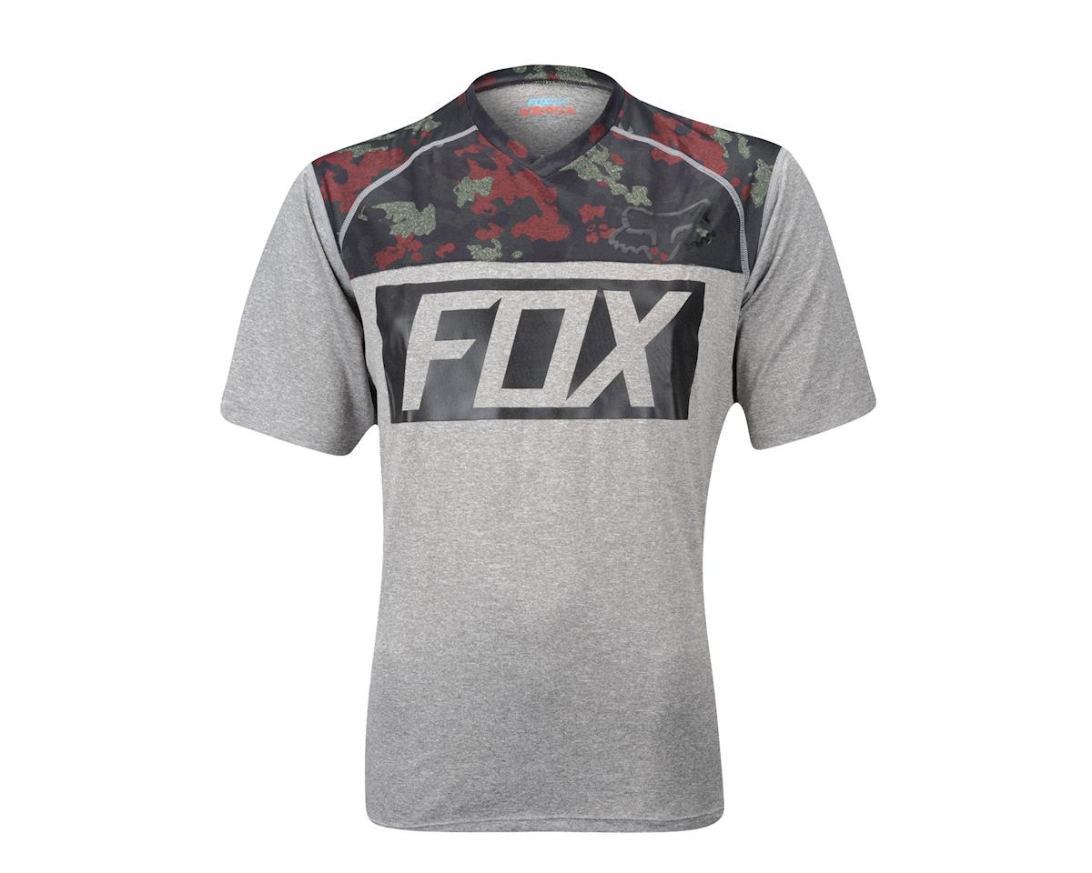 Fox Racing Indicator Print Short Sleeve Jersey - 2016 (Grey)