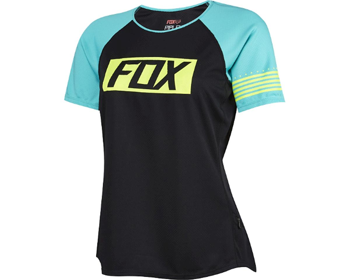 Fox Women's Ripley Short Sleeve Jersey (Matte Black/Green)