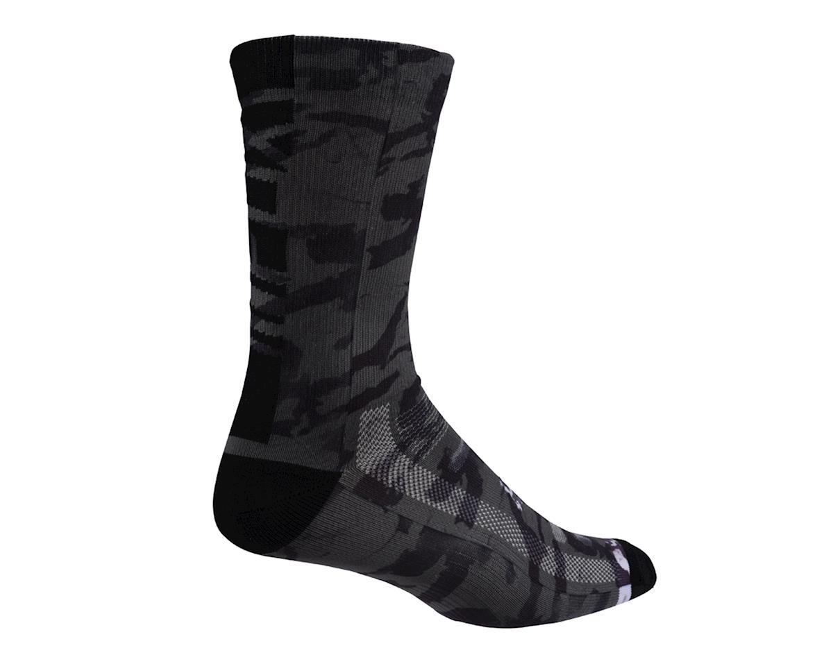 """Fox 8"""" Creo Trail Socks (Black/White)"""