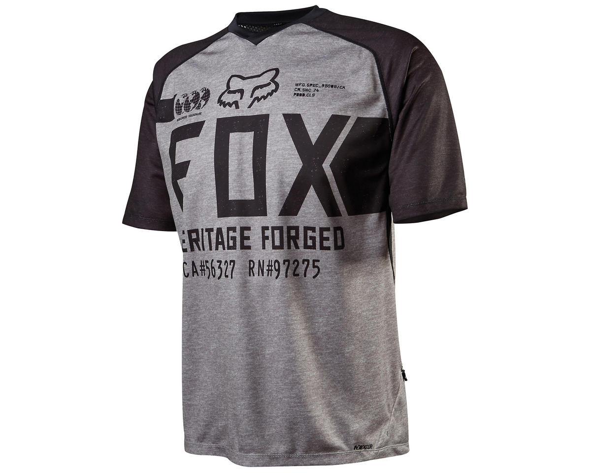 Fox Indicator Short Sleeve Cycling Jersey (Heather Gray)