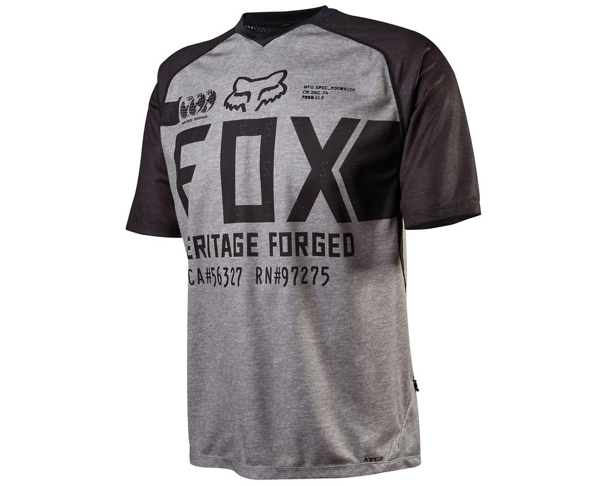 Fox Indicator Short Sleeve Cycling Jersey (Heather Gray) (S)