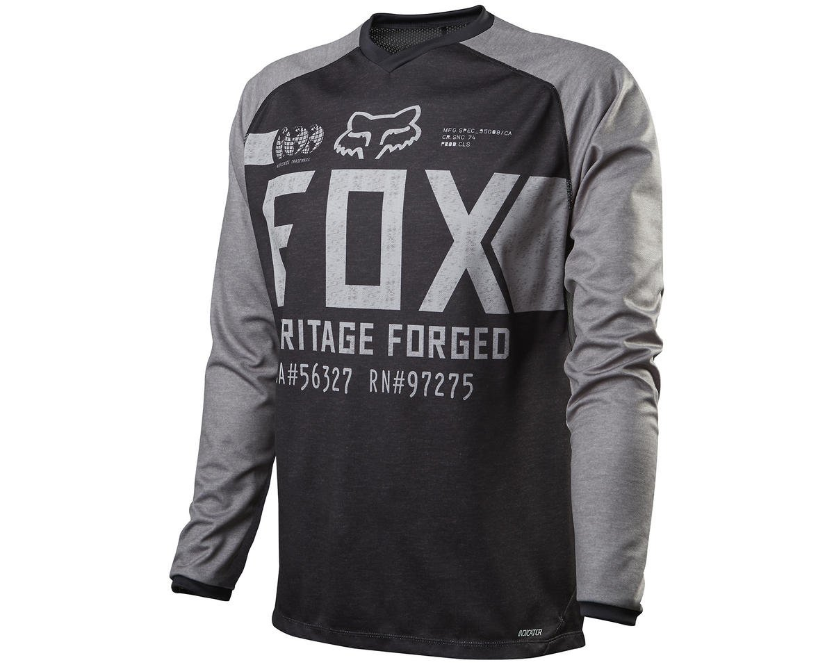 Fox Indicator Long Sleeve Cycling Jersey (Heather Black)