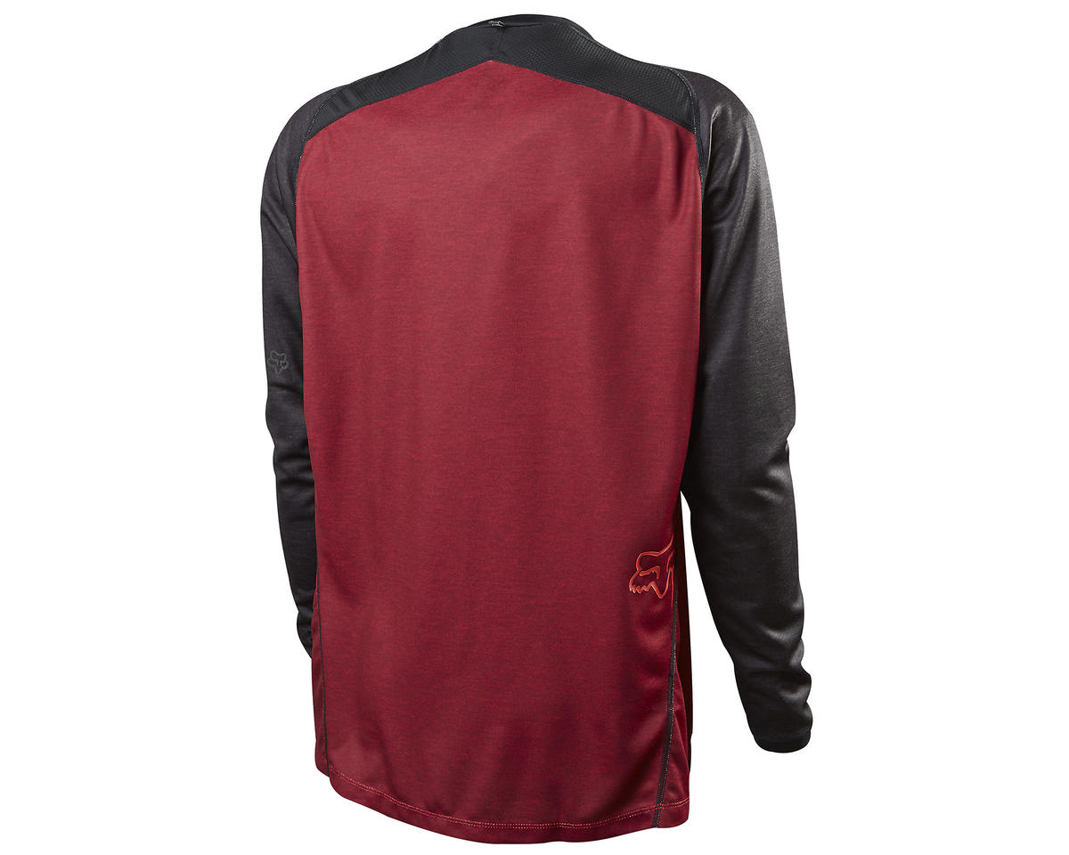 Fox Indicator Long Sleeve Cycling Jersey (Heather Red) (L)
