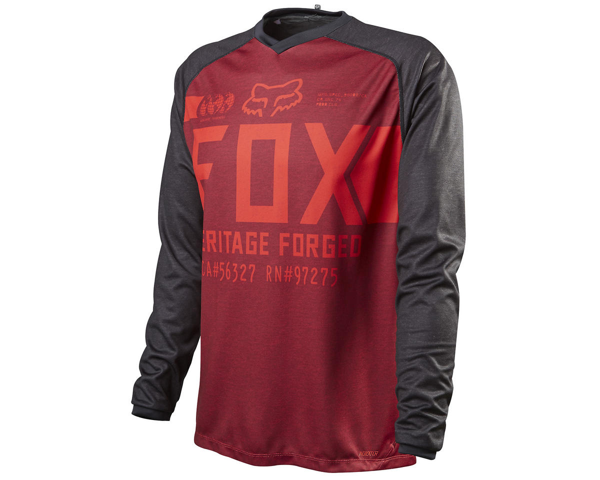 Fox Indicator Long Sleeve Cycling Jersey (Heather Red) (M)