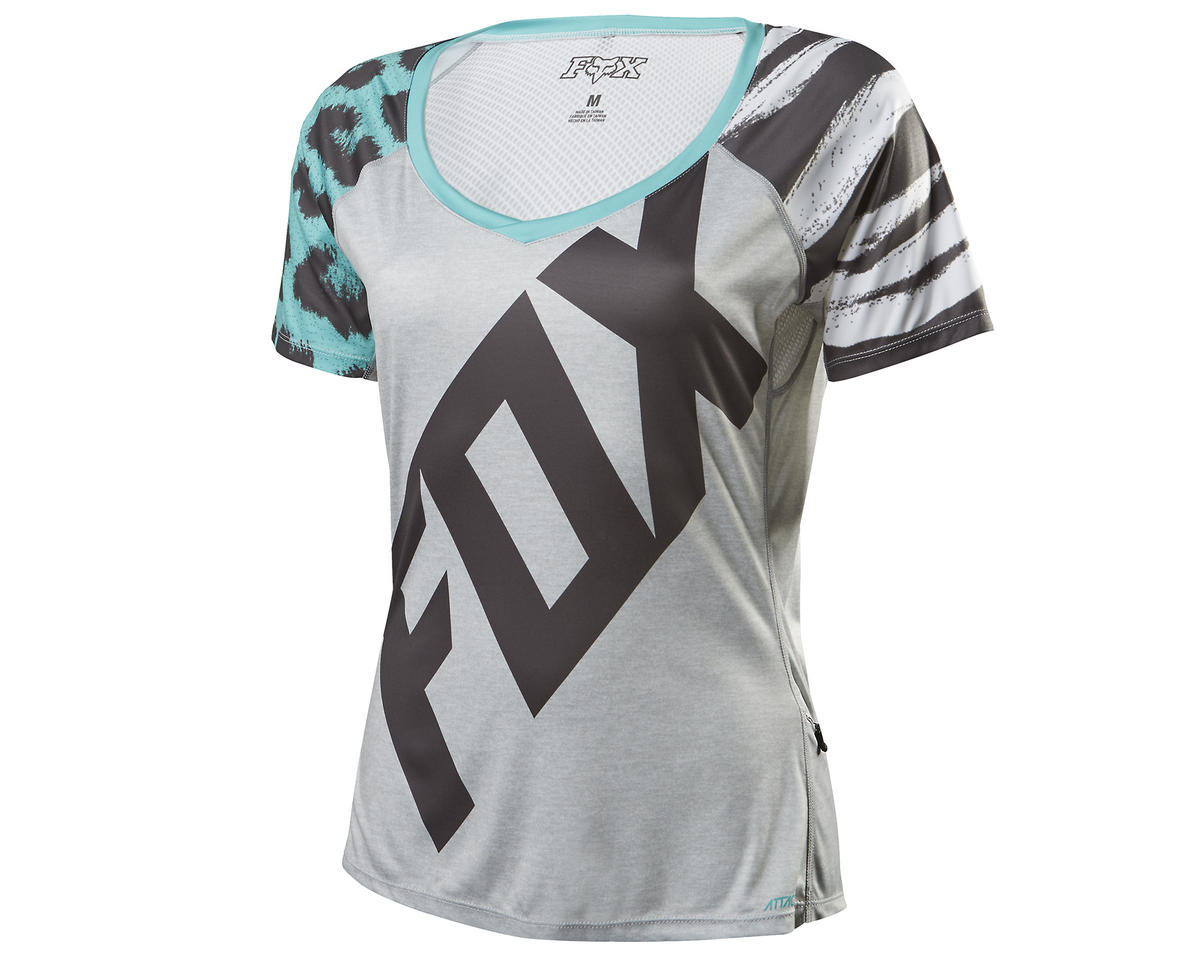 Fox Lynx Women's Short Sleeve Cycling Jersey (Gray) (L)