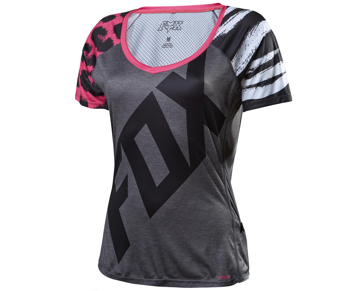 Fox Lynx Women's Short Sleeve Cycling Jersey (Pink) (L)