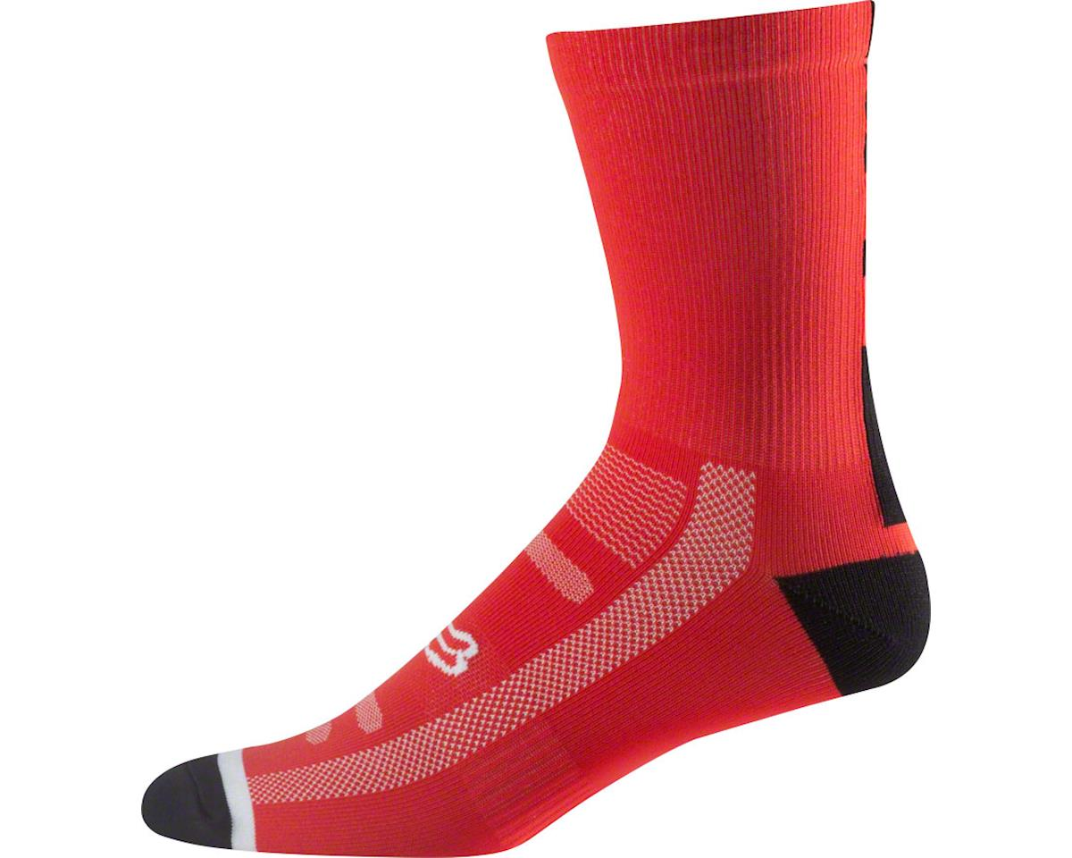 "Racing Trail 8"" Sock (Flame Red)"