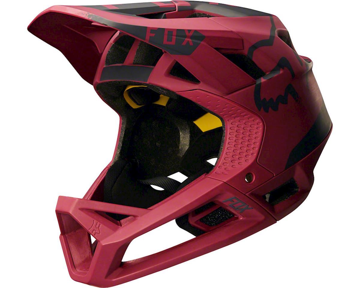 Fox Racing Proframe Full Face Helmet (Moth Dark Red)