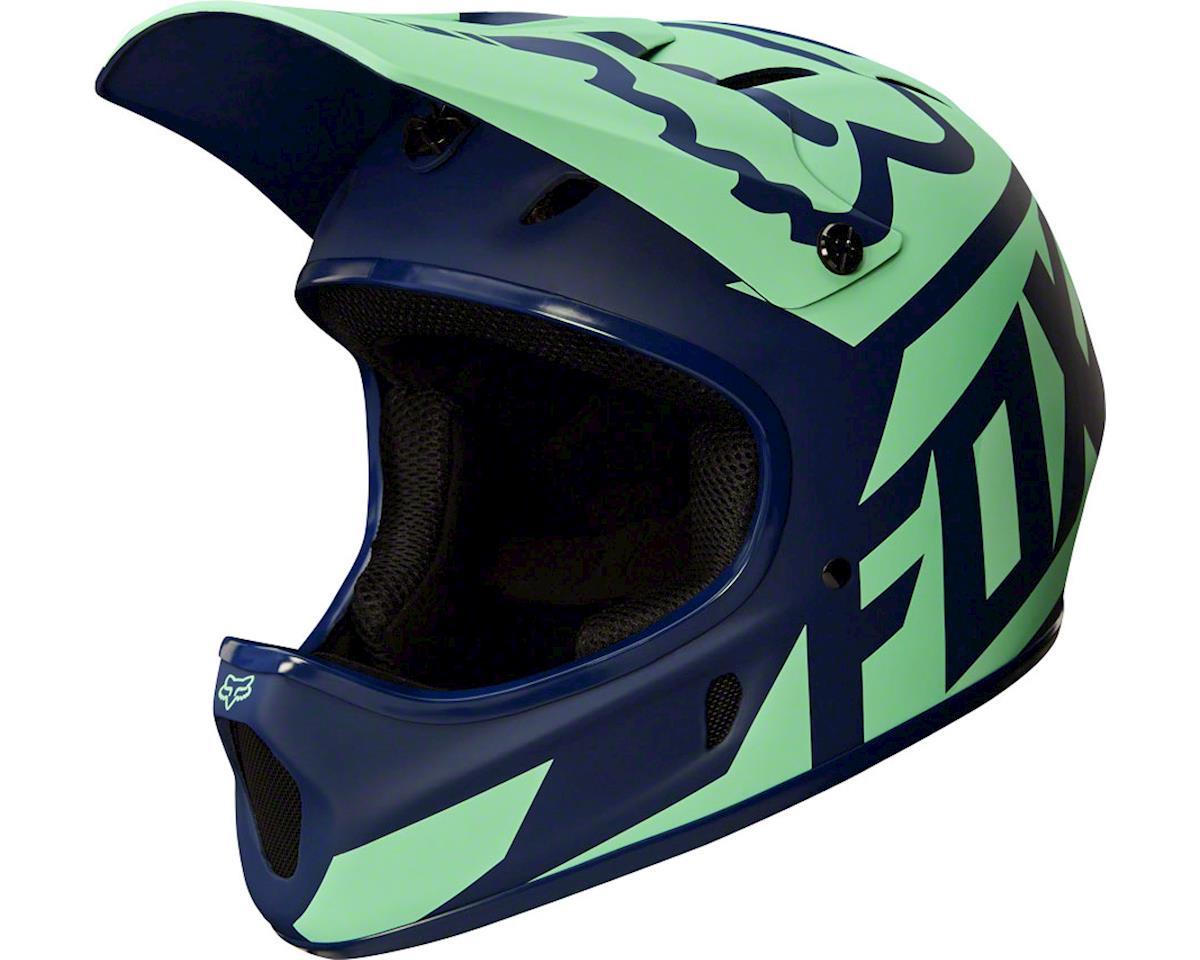 Fox Racing Rampage Downhill Helmet: Race Navy/Light Blue XL