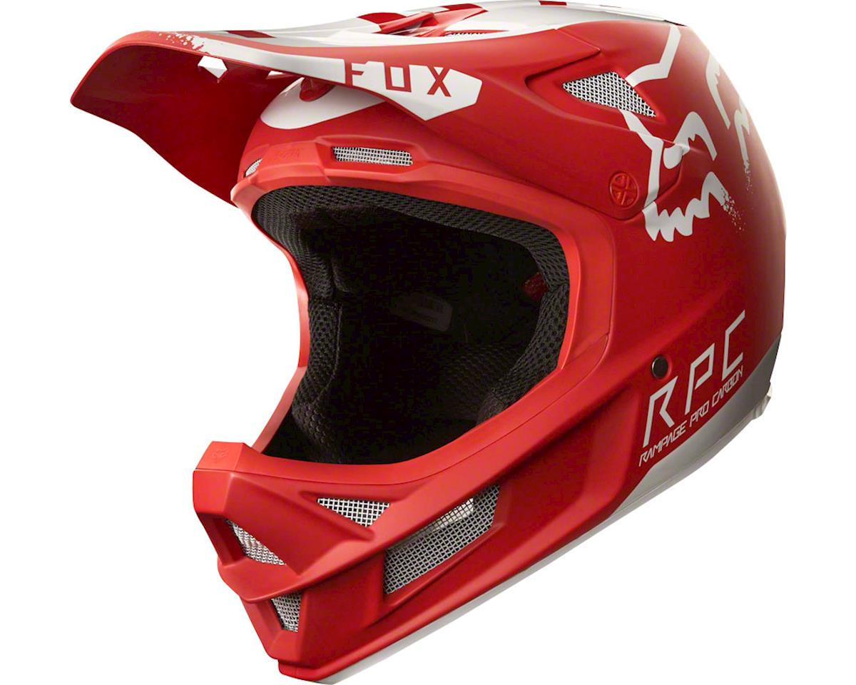 Fox Racing Rampage Pro Carbon Full Face Helmet (Moth Red/White) (XL)