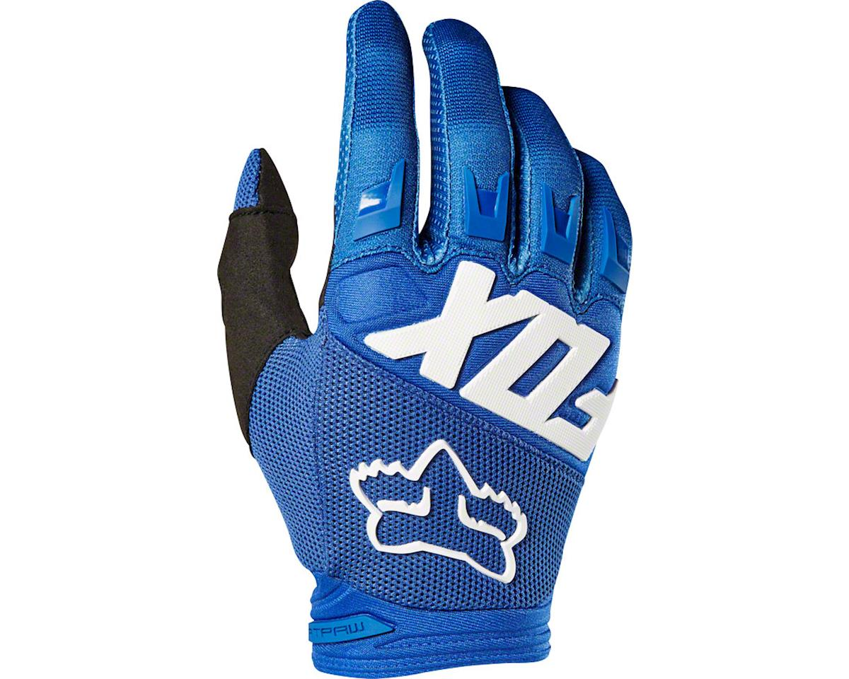 Fox Racing Dirtpaw Men's Full Finger Glove: Blue LG