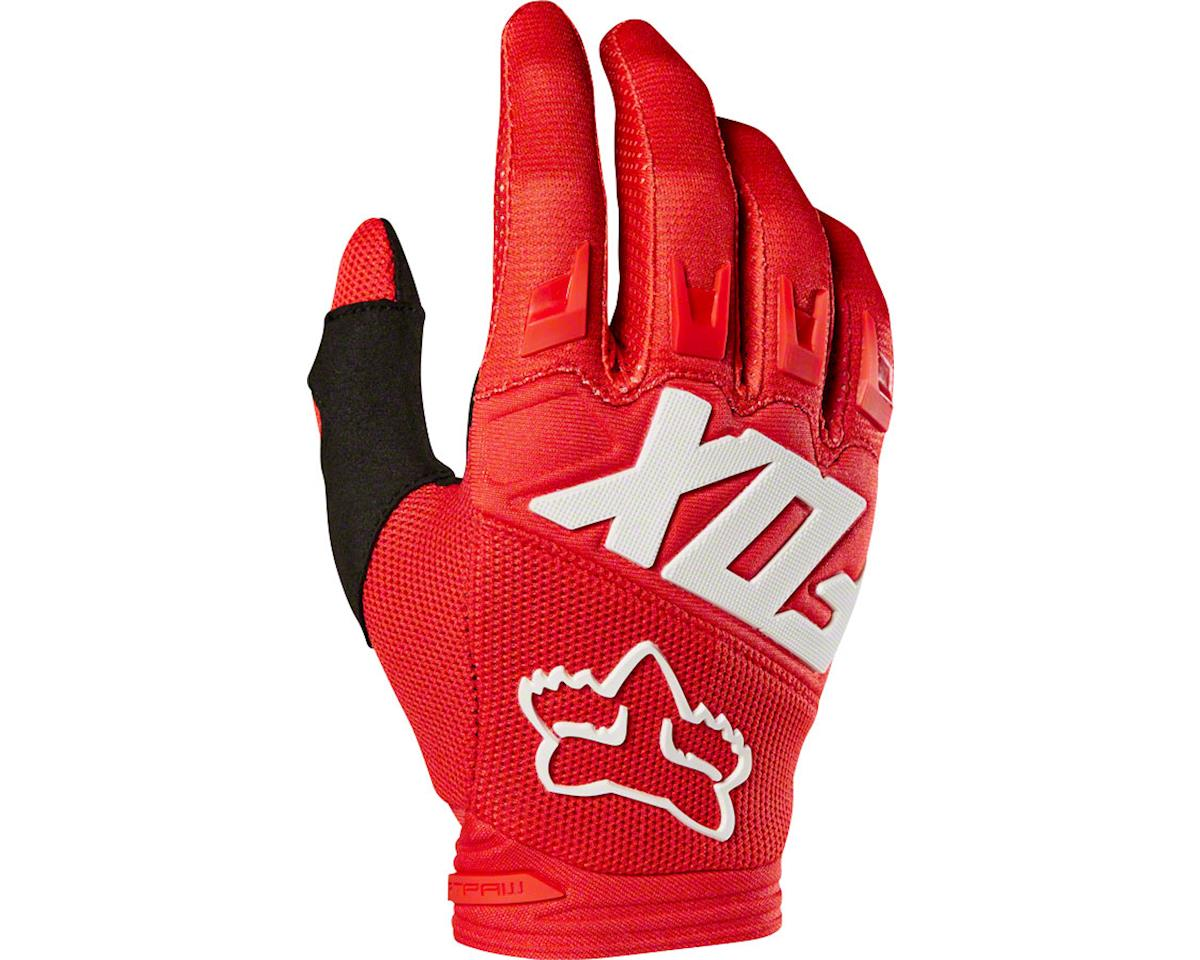 Fox Racing Dirtpaw Men's Full Finger Glove: Red 2XL