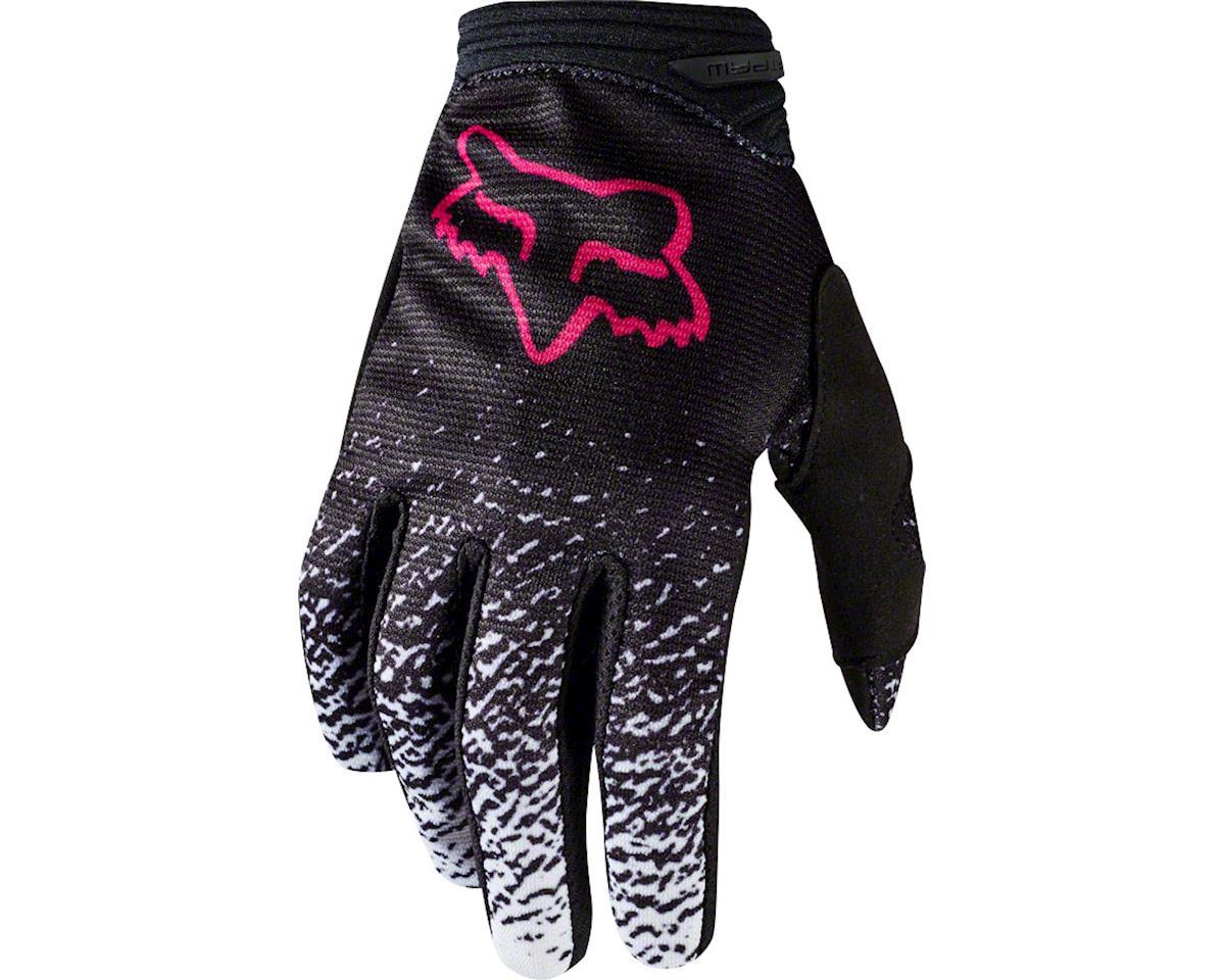 Fox Racing Dirtpaw Youth Full Finger Glove Black Pink Lg Kids L