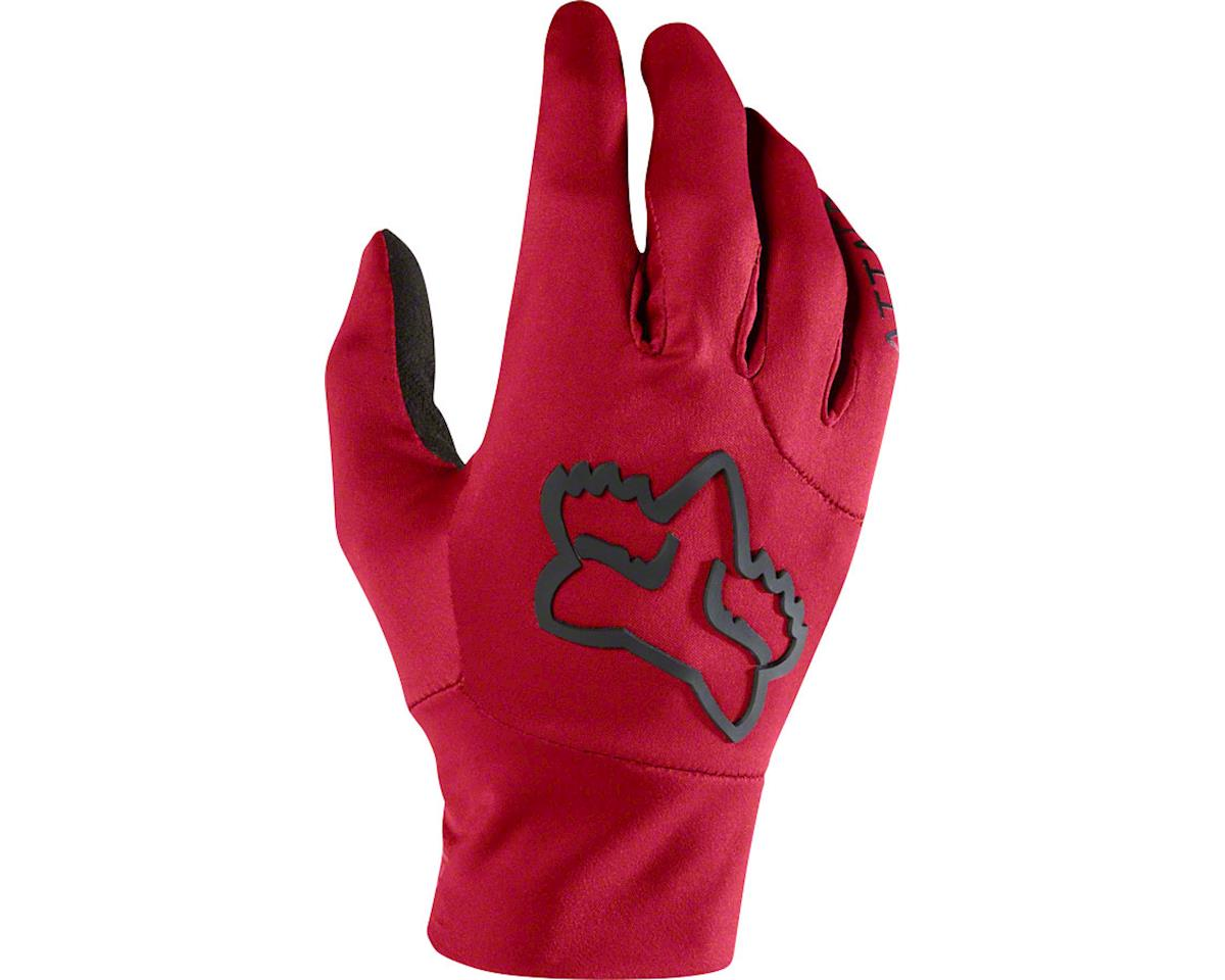 Racing Attack Water Men's Full Finger Glove (Dark Red)