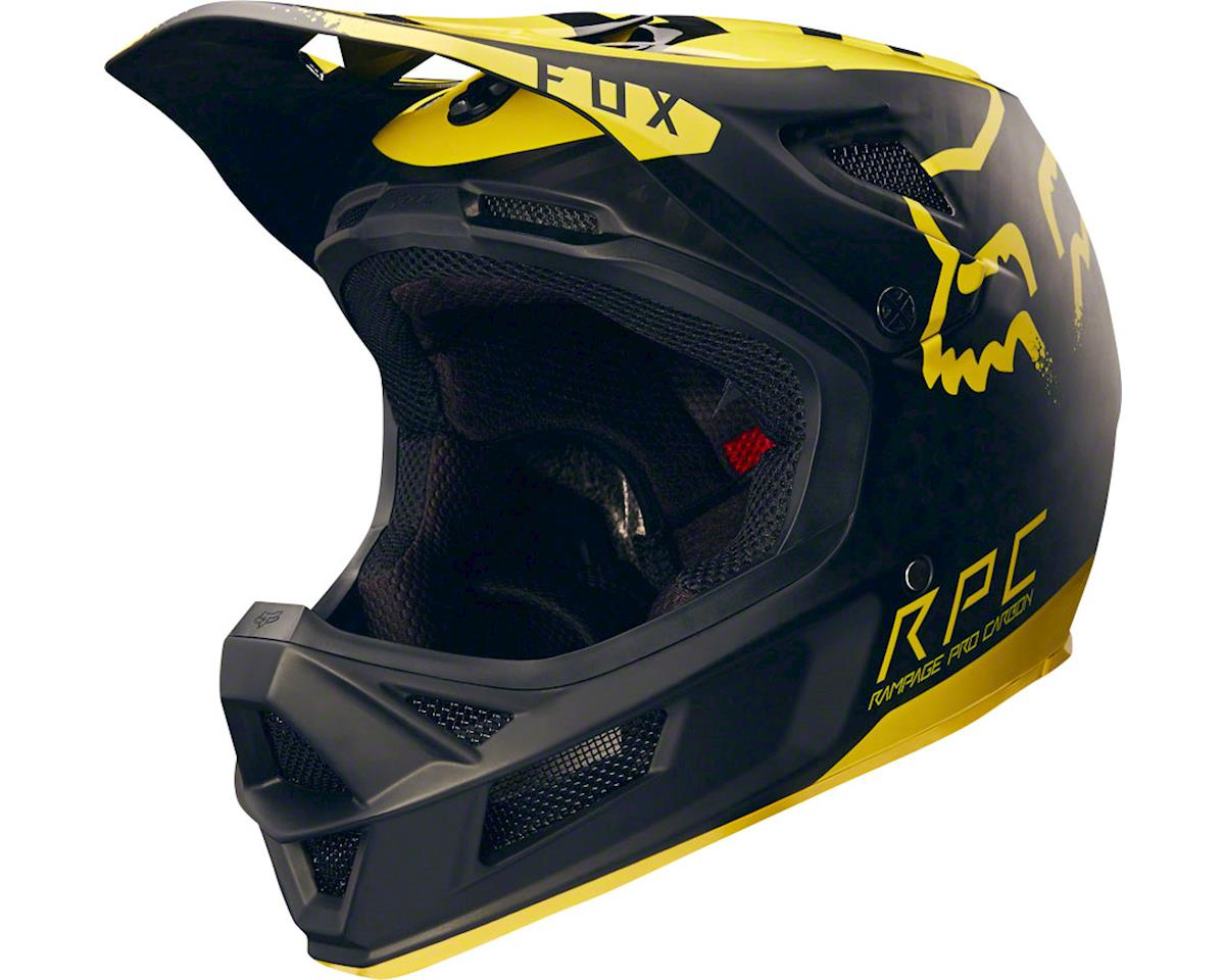 Fox Racing Rampage Pro Carbon Full Face Helmet (Moth Black/Yellow)