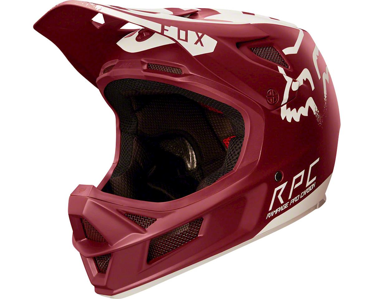 Fox Racing Rampage Pro Carbon Downhill Helmet (Moth Dark Red)