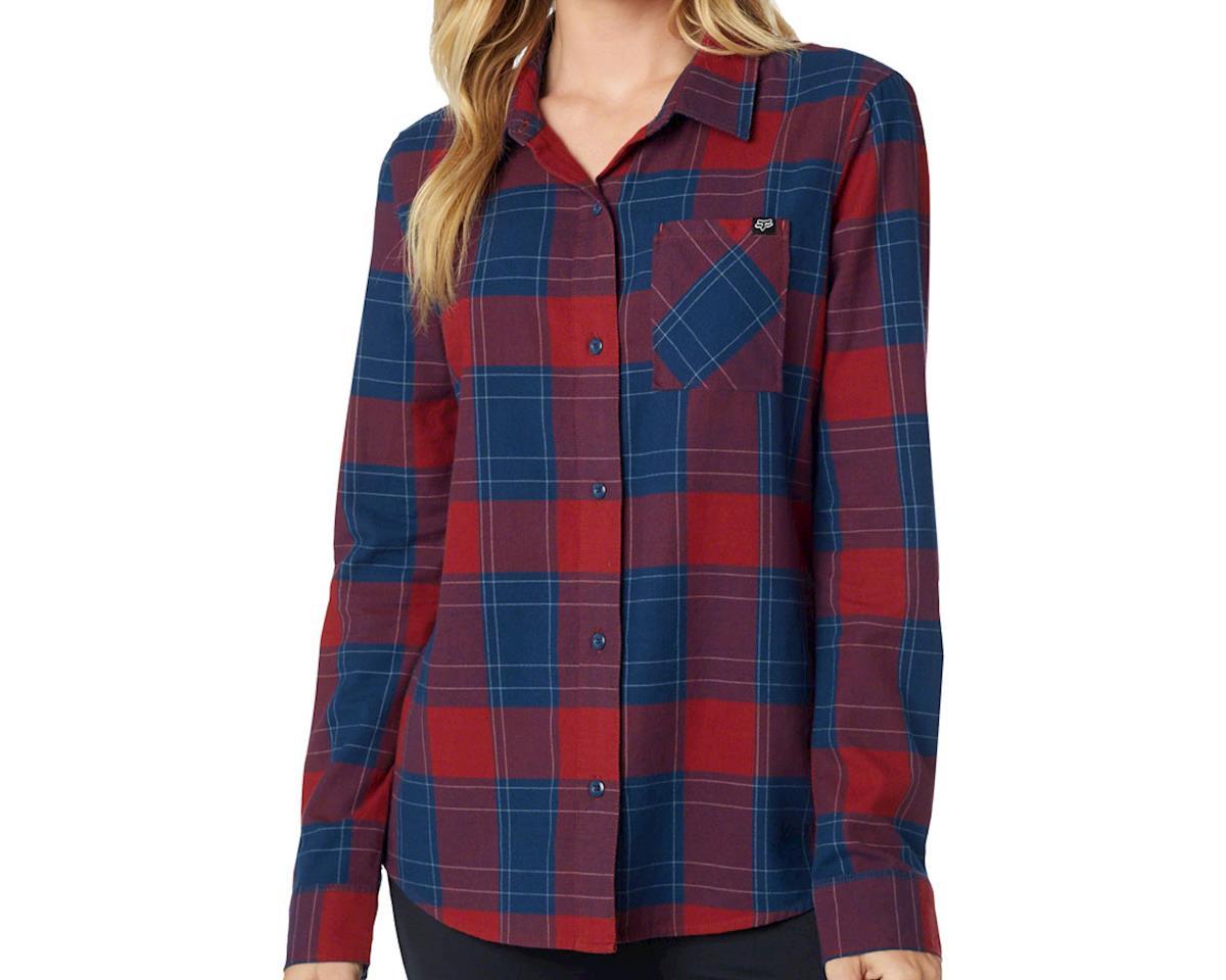 Fox Racing Rover Women's Flannel Shirt: Dark Red LG