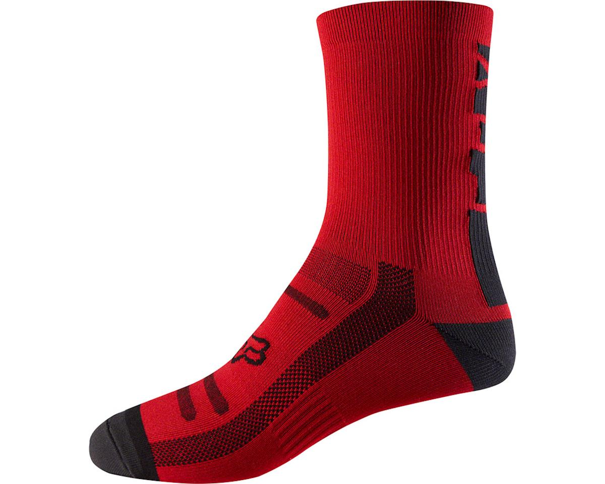 "Racing Trail 8"" Sock (Bright Red)"