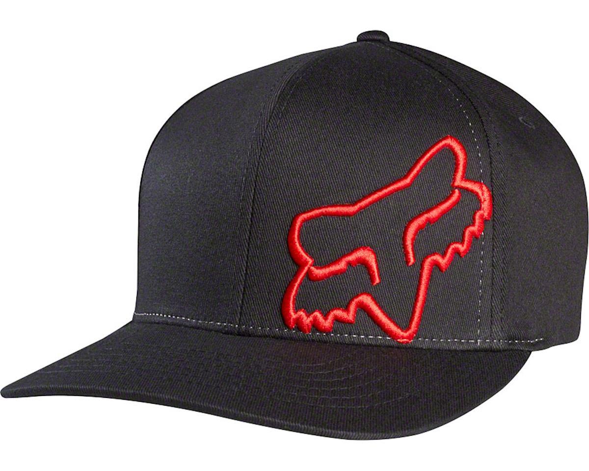 Fox Racing Flex 45 Flexfit Hat (Black/Red) (S/M)