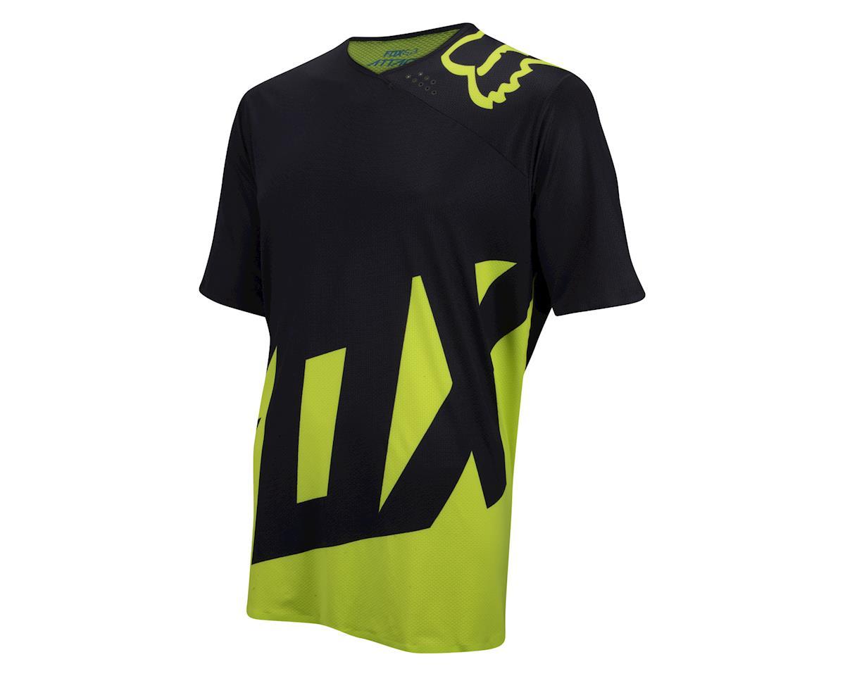 Fox Attack Short Sleeve Jersey (Matte Black/High Vis) (Xlarge)