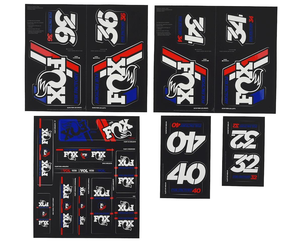 Fox Suspension Heritage Decal Kit for Forks and Shocks (Red/White/Blue)