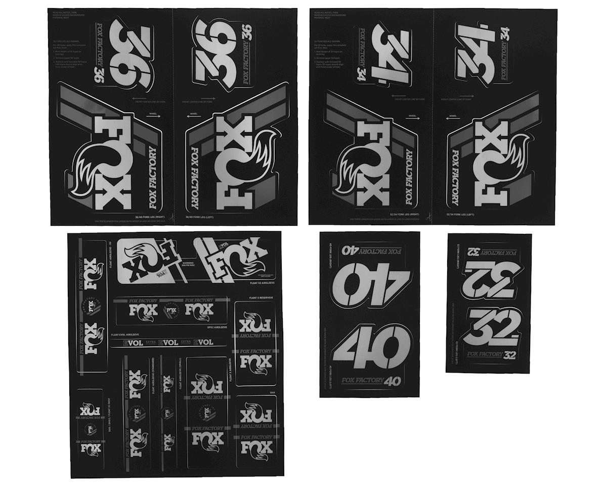 Fox Suspension Heritage Decal Kit for Forks and Shocks (Silver)