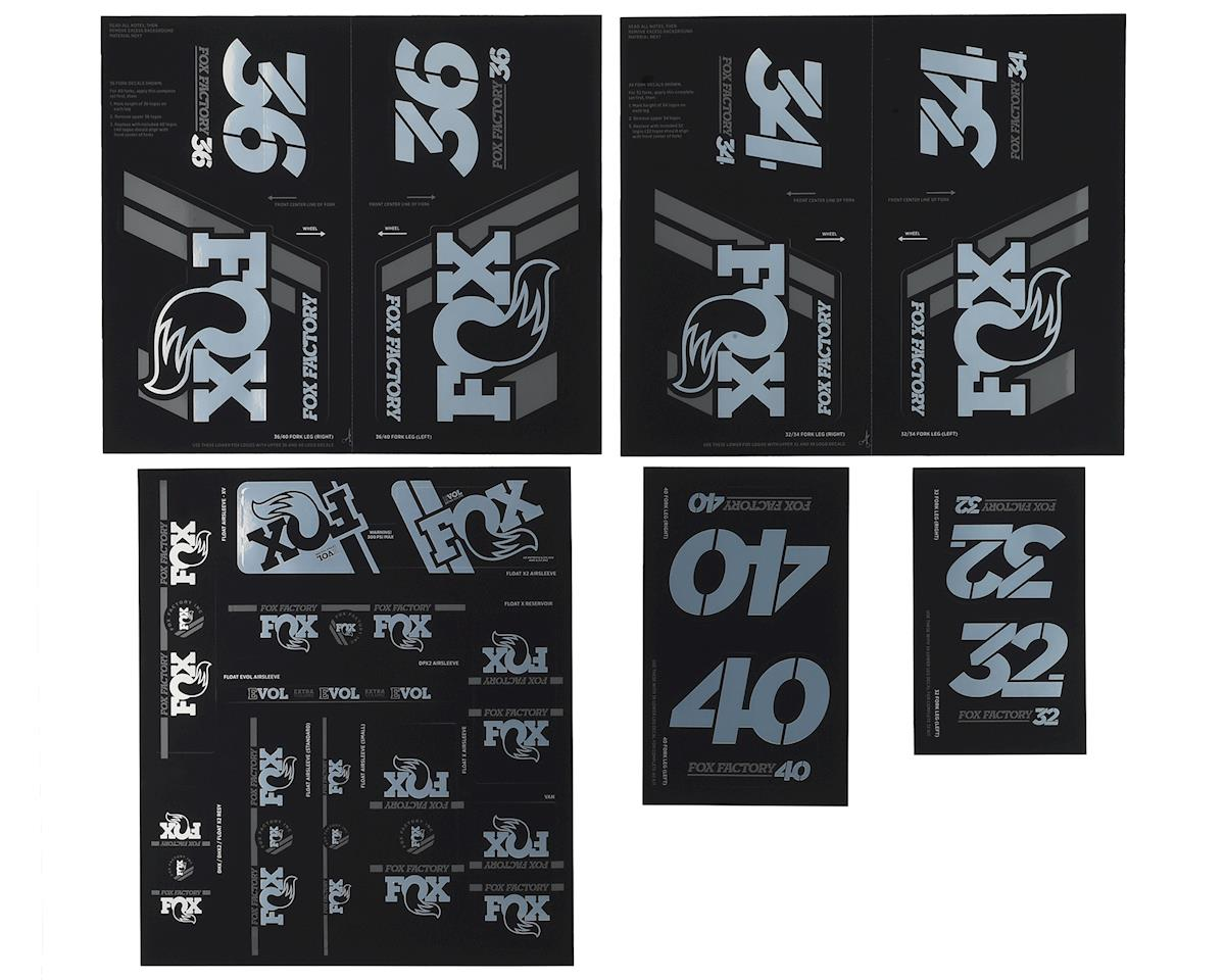 Fox Suspension Heritage Decal Kit for Forks and Shocks (Chrome)