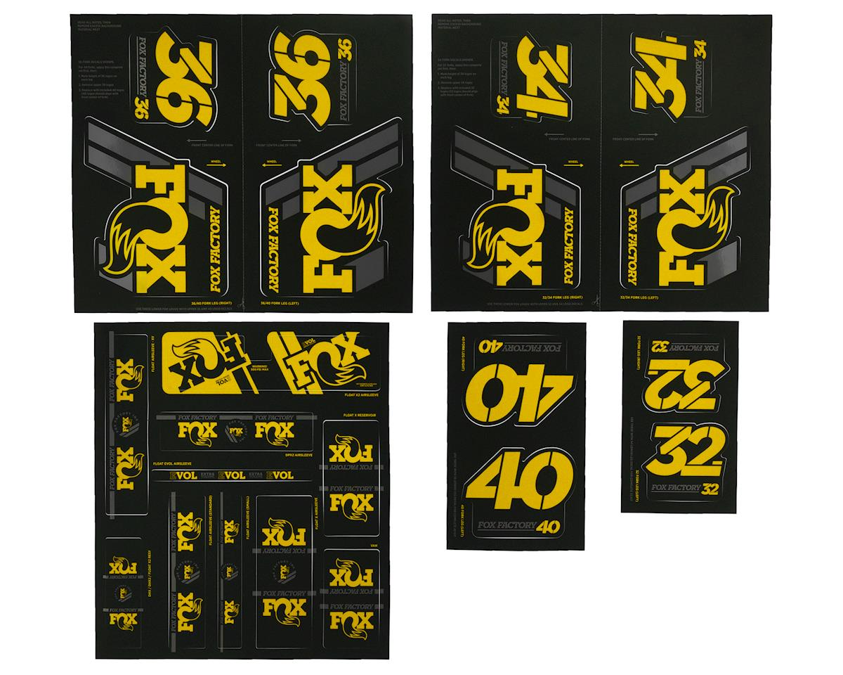 FOX 34 Forks Suspension Factory Style Decal Kit Sticker Adhesive Set Yellow