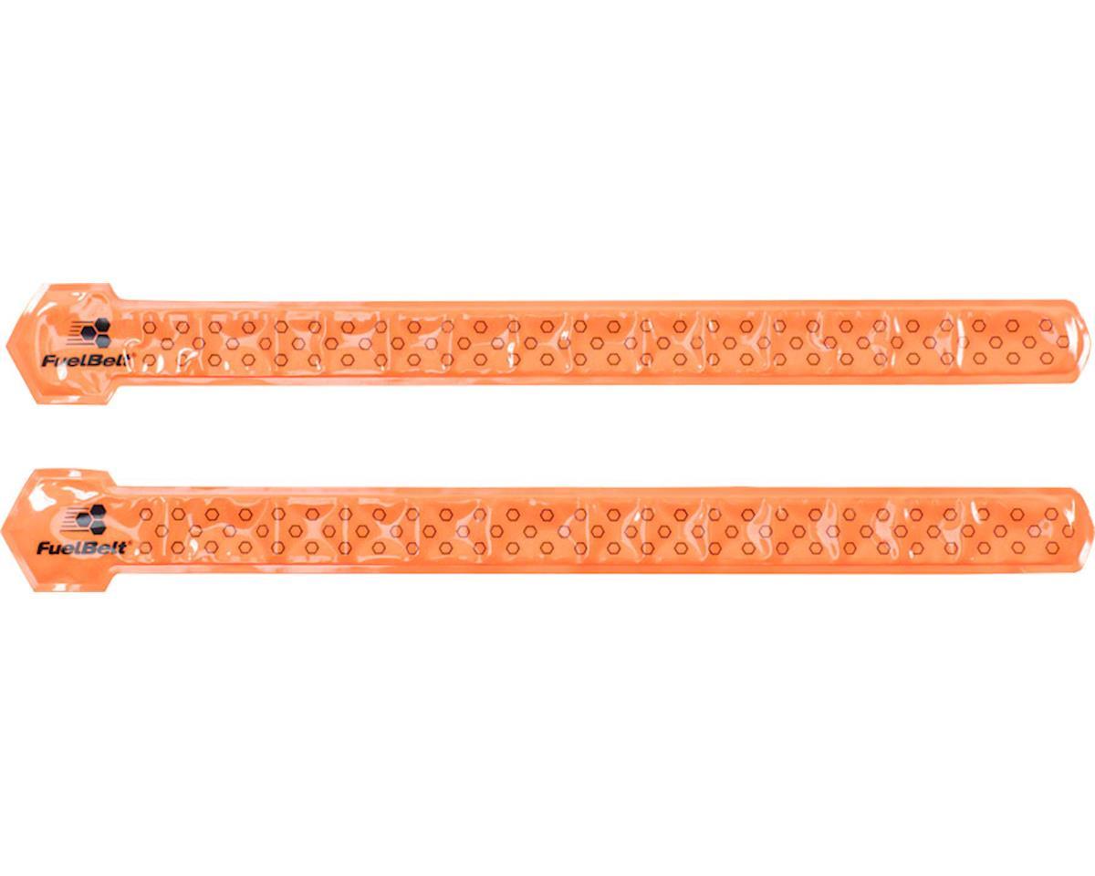 FuelBelt Neon Reflective Snap Bands: Orange, Pair