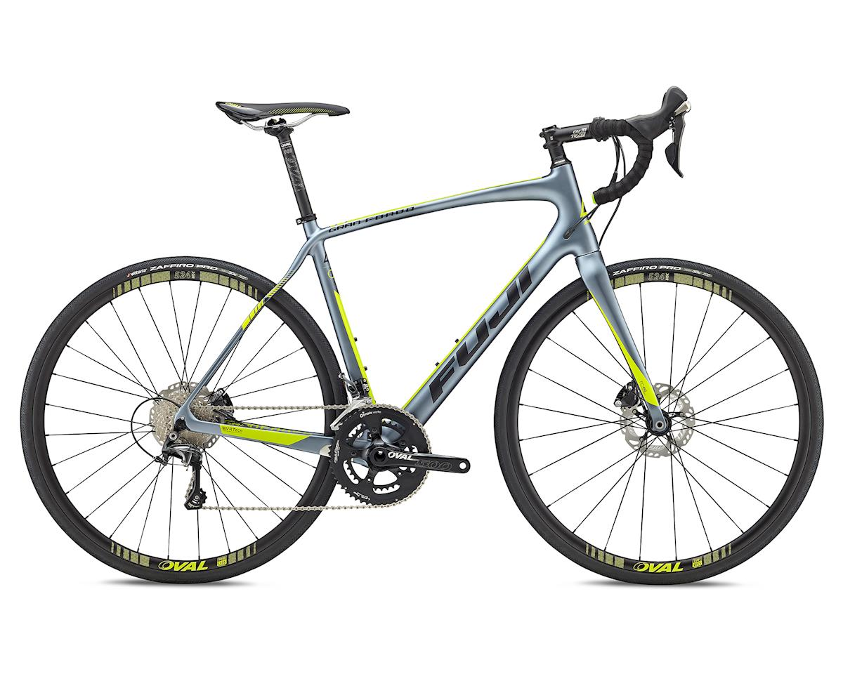 Fuji Bikes 2018 Gran Fondo 2.1 Disc Road Bike (Satin Storm Silver) (56cm)