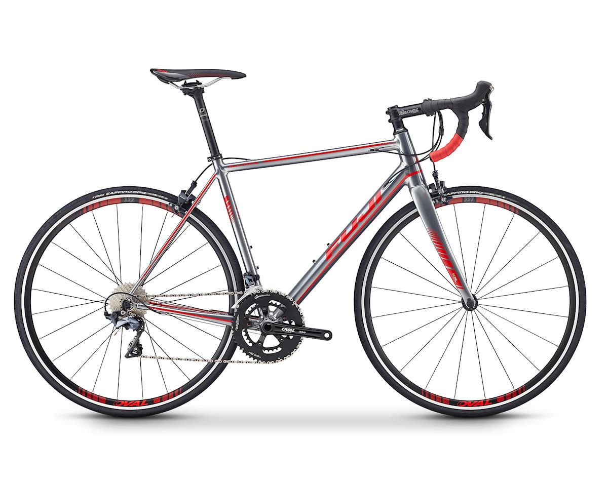 Fuji Bikes 2019 Roubaix 1.3 Road Bike (Polished Silver/Red)